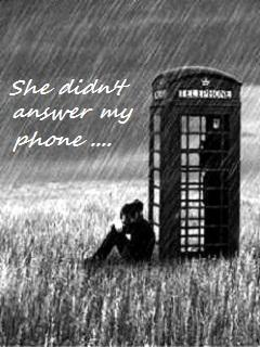 Waiting In Rain Mobile Wallpaper