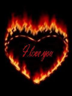 Fire Heart Mobile Wallpaper