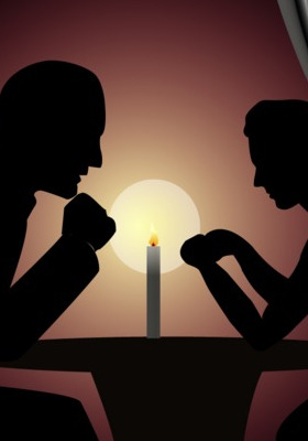 Candle Light Diner Mobile Wallpaper