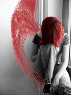 Sad Angel Mobile Wallpaper