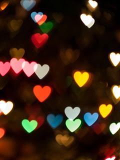 Lovely Hearts Mobile Wallpaper