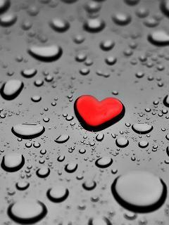 Heart Drop Mobile Wallpaper