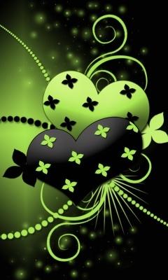 Green  Black Mobile Wallpaper