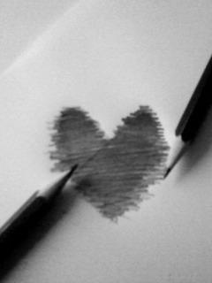 Heart Sketch Mobile Wallpaper