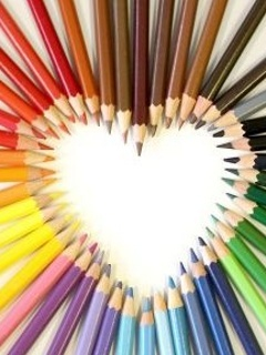 Pencil Heart Mobile Wallpaper