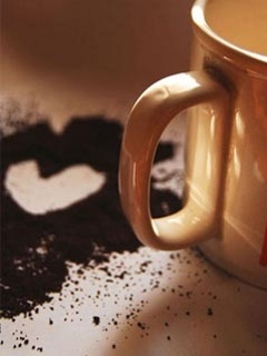 Coffee Heart Mobile Wallpaper