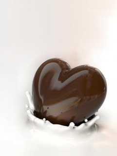 Chocolate Heart Mobile Wallpaper