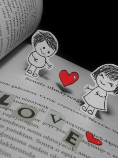 Love In Book Mobile Wallpaper
