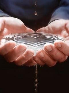 Water Heart Mobile Wallpaper