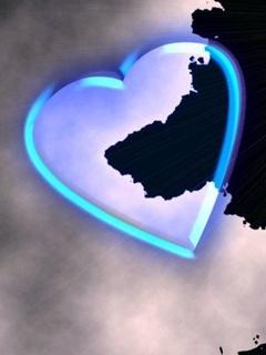 Blue Hearts Mobile Wallpaper