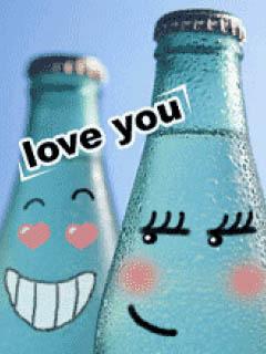 Love Drinks Mobile Wallpaper