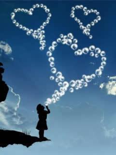 Balloons Hearts Mobile Wallpaper