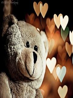 Teddy Love Mobile Wallpaper