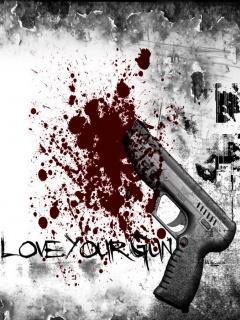 Gun Love Mobile Wallpaper