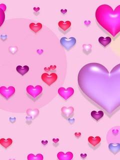 Love Hearts Mobile Wallpaper