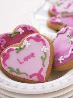 Love Cookie Mobile Wallpaper