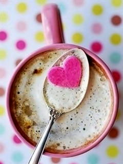 Love Coffee Mobile Wallpaper