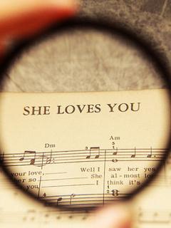 She Love You Mobile Wallpaper