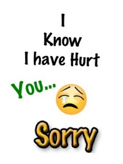Sorry For Hurt Mobile Wallpaper