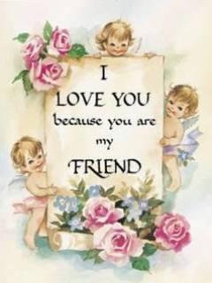 Friend Love Mobile Wallpaper