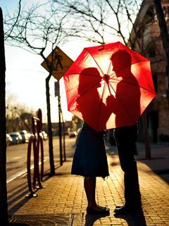 Inside Umbrella Mobile Wallpaper