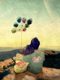 Love Balloons Mobile Wallpaper