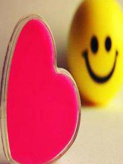 Love Smiley Mobile Wallpaper