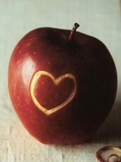 Love Apple Mobile Wallpaper