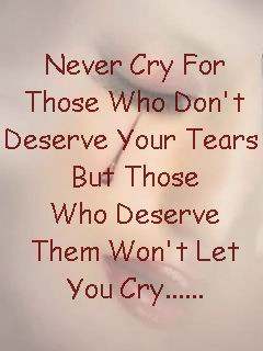 Never Cry Mobile Wallpaper