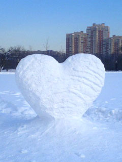 Snow Love Mobile Wallpaper