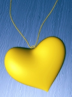 Yellow Heart Mobile Wallpaper