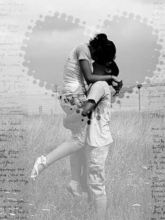 Kissing Lovers Mobile Wallpaper