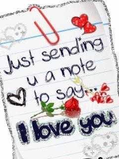 Saying Love Mobile Wallpaper