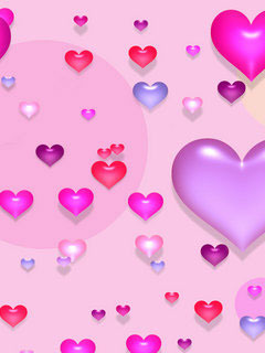 Pink And Hearts Mobile Wallpaper