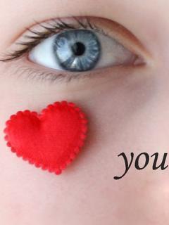 Eye Love Mobile Wallpaper