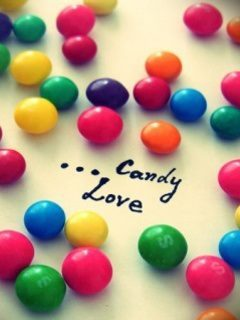 Candy Love Mobile Wallpaper
