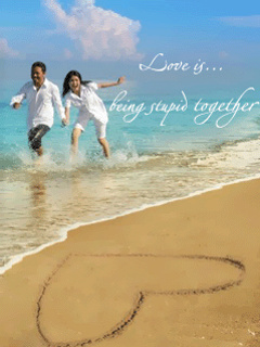 Love Is Beach Mobile Wallpaper