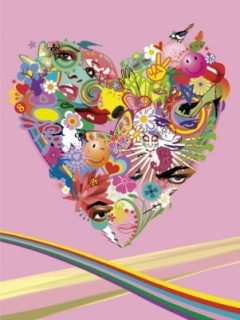 Colors Heart Mobile Wallpaper
