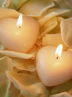 Heart Candles Mobile Wallpaper