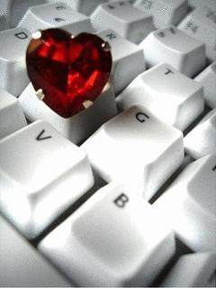 Heart On Keyboard Mobile Wallpaper