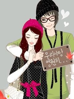 Asain Couple Mobile Wallpaper
