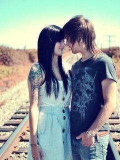 Romantic Couple Mobile Wallpaper