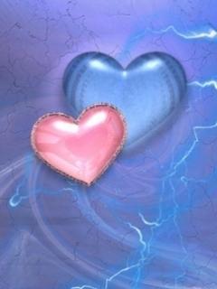 Hearts Color Mobile Wallpaper