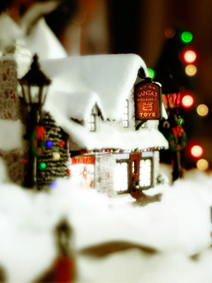 Christmas House Mobile Wallpaper