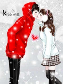 Kiss Me In Winter Mobile Wallpaper