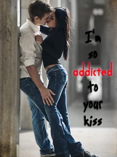Addicted Your Kiss Mobile Wallpaper