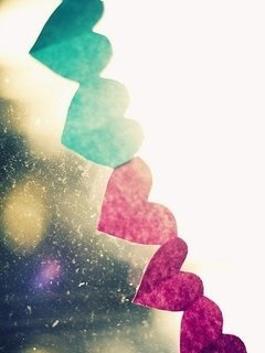 Cute Hearts Mobile Wallpaper
