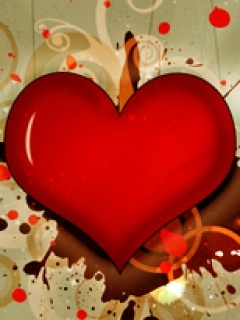 Red Big Heart Mobile Wallpaper