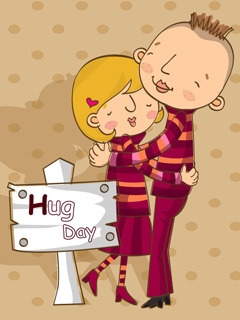 Hug Day Mobile Wallpaper