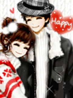 Sweet Hearts Couple Mobile Wallpaper
